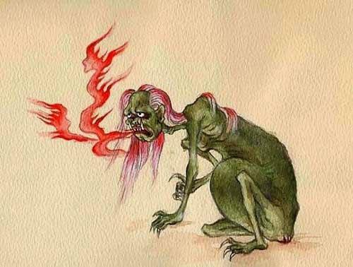 Hình ảnh con quỷ đói trong tín ngưỡng dân gian.