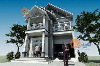 Mẫu thiết kế biệt thự 2 tầng tại Bắc Ninh
