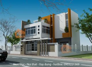 Mẫu thiết kế biệt thự 2 tầng tại Mê Linh, Hà Nội
