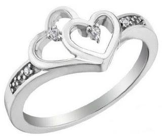 Hình ảnh mẫu kiểu nhẫn nữ đính hôn vàng trắng N100