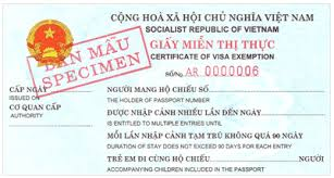 Giay mien thi thuc Viet Nam