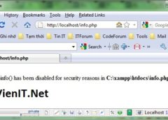 Hướng dẫn Disable 1 số hàm PHP trên Server bằng PHP.INI