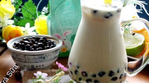 Làm trà sữa trân châu handmade