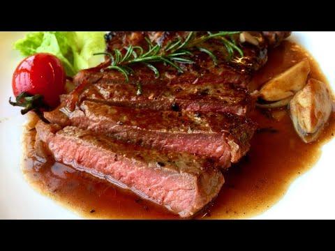 Bò bít tết sốt BBQ