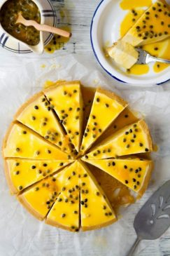 Cheese chanh dây màu sắc hấp dẫn, hương vị thơm ngon
