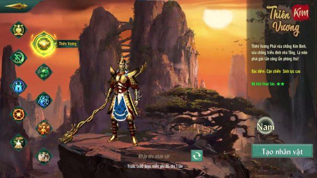 Thiên vương võ lâm truyền kỳ 1 mobile